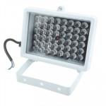 Lumière auxiliaire caméra CCD 48 LED la CCD, IR Distance: 50m ZT-48W, Taille: 9x12.5x8cm Blanc - wewoo.fr