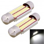 Lampes de porte voiture 2 PCS feston 39mm 2W 200LM White Light 20 LED SMD 4014 erreur License Plate libre Ampoule - wewoo.fr