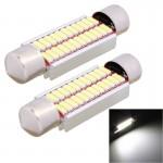 Lampes de porte voiture 2 PCS 41mm 2W 240lm lumière blanche 24 LED SMD 4014 erreur License Plate libre Ampoule - wewoo.fr
