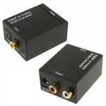 Adaptateur RCA Numérique optique coaxial Toslink vers analogique audio Noir - wewoo.fr