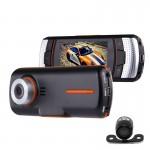 Dashcam A1 DVR Caméra LCD 2,7 pouces Full HD 1080p 2 caméras 170 degrés grand angle de visualisation, soutien vision nocturne...