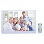 15 inch Digital Picture Frame with Remote Control Support SD / MMC / MS Card and USB , White (1331W)(White)