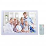 Cadre photo numérique 15 pouces avec prise en charge de la télécommande SD MMC MS Card et USB Blanc 1331W