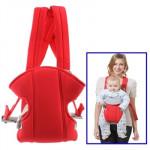 Porte bébé Multiposition sécurité Porte-bébé Sac à dos Rouge - wewoo.fr