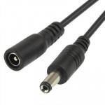 5.5 x 2.1mm DC alimentation Femelle vers mâle Connecteur Barrel Câble lumière Contrôleur LED, Longueur: 3m Noir - wewoo.fr