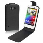 Housse en cuir HTC Sensation XL G21 X315e - wewoo.fr
