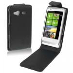 Housse en cuir HTC C110e Radar Noir - wewoo.fr