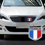 Emblème de voiture Motif universel Drapeau français en alliage d'aluminium Calandre - wewoo.fr