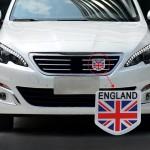 Emblème de voiture Universal Drapeau l'Angleterre Motif en alliage d'aluminium Calandre - wewoo.fr