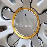 Emblème de voiture Bague en aluminium dérotation moyeu roue 4 PCS Audi or - wewoo.fr