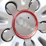 Emblème de voiture Anneau dérailleur en aluminium moyeu roue 4 PCS Audi rouge - wewoo.fr