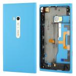 Boitier intégral Nokia Boîtier de la batterie Couverture arrière Avec Bouton latéral Câble Flex Lumia 900 Bleu - wewoo.fr