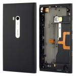 Boitier intégral Nokia Boîtier de la batterie Couverture arrière Avec Bouton latéral Câble Flex Lumia 900 Noir - wewoo.fr
