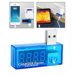 Voltmètre Tension USB Charge Docteur / Testeur de courant les téléphones mobiles tablettes Bleu - wewoo.fr