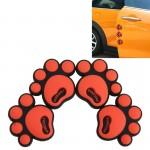 Autocollant anti choc voiture 4 PCS Dog empreinte Shape Style Cartoon PVC Protection automatique anti-rayures Garde porte déc...