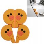 Autocollant anti choc voiture 4 PCS adoreable forme de canard Cartoon style PVC Protection automatique anti-rayures Garde por...