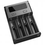 Chargeur de piles Nitecore NEW i4 Intelligent Digi avec indicateur LED 14500, 16340 RCR123, 18650, 22650, 26650, Ni-MH et Ni-...