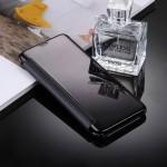 Housse en cuir Galaxy S8 Samsung / G9500 galvanoplastie Miroir Case Retournement horizontal avec sommeil réveil Fonction Noir...