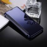 Housse en cuir Galaxy S8 Samsung / G9500 galvanoplastie Miroir Case Retournement horizontal avec sommeil fonction de réveil b...