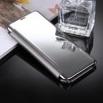 Housse en cuir Galaxy S8 Samsung / G9500 galvanoplastie Miroir Case Retournement horizontal avec sommeil fonction de réveil A...