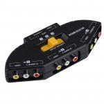 Splitter RCA AV-33 Multi Box AV Switcher Audio-Vidéo Signal + 3 Câble RCA, entrée Groupe et 1 système de sortie Noir - wewoo.fr