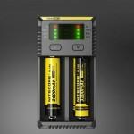 Chargeur de piles Nitecore NEW i2 Intelligent Digi avec indicateur LED 14500, 16340 RCR123, 18650, 22650, 26650, Ni-MH et Ni-...