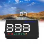 Affichage tête haute Geyiren A5 HUD 3.5 pouces de voiture avec système GPS, à deux modes, capteurs lumière, KM / h MPH vitess...