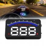 Affichage tête haute Geyiren M6 HUD 3.0 pouces de voiture avec OBDII et système EUOBD, vitesse alarme excessive, RPM, tempéra...