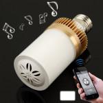 Enceinte Bluetooth d'intérieur E27 4.5W 24 LED Haut-parleur Lumière / Lampes à économie d'énergie - wewoo.fr