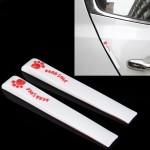 Autocollant anti choc voiture 2 PCS PVC Protection automatique anti-rayures Garde porte décoratif - wewoo.fr