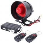 Système d'alarme Voiture Car Safty d'avertissement du moteur Bouton de démarrage / arrêt avec deux télécommandes, DC 12V - w...