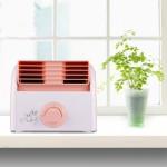 Ventilateur électrique 30W Turbine Aucune lame Desktop Fan Mute Dortoir / Chambre Salon Bureau, 3 types de mode Vitesse, AC 2...