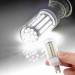 Ampoule LED SMD 2835 G9 8.0W AC 220V 660LM lampe de lumière maïs avec couvercle transparent lumière blanche 102 LEDs - wewoo.fr
