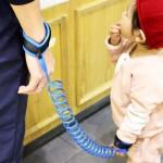 Enfants Harnais de sécurité enfant perdu poignet anti Leash lien traction Corde Bracelet, Longueur: 2,5 m Bleu - wewoo.fr