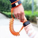 Enfants Harnais de sécurité enfant perdu poignet anti Leash lien traction Corde Bracelet, Longueur: 1,5 m Orange - wewoo.fr
