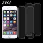 Verre Trempé 2 PCS l'iPhone 8 Plus et iPhone 7 0.26mm 9H dureté de surface 2.5D Antidéflagrant en Film non plein écran - wew...