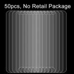 Verre Trempé 50 PCS l'iPhone 8 Plus et iPhone 7 0.26mm 9H dureté de surface 2.5D Antidéflagrant Film l'écran non-plein, Sans ...