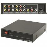 Splitter RCA Séparateur AMP audio et vidéo 4 voies avec interrupteur, 1 entrée, sorties JM-VA104 - wewoo.fr