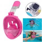 Masque de plongée GoPro Enfants Équipement facial design Snorkel HERO4 / 3 + 3/2/1 Rose - wewoo.fr