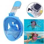 Masque de plongée GoPro Enfants Équipement facial design Snorkel HERO4 / 3 + 3/2/1 Bleu - wewoo.fr