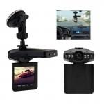 Dashcam 2,5 pouces à écran haute définition Enregistreur vidéo, 6 LED, Format vidéo AVI, Support de carte SD, la fonction d'e...