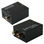 Adaptateur RCA analogique optique numérique coaxial Toslink Audio Converter Noir - wewoo.fr
