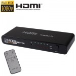 Switch HDMI Ports Full HD 1080P avec commutateur et télécommande, version 1.3 5 d'entrée HDMI, 1 sortie Port - wewoo.fr