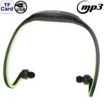 Lecteur MP3 Sport Casque avec carte tf Fonction, Musique Format: / WMA WAV vert clair - wewoo.fr