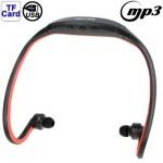Lecteur MP3 Sport Casque avec de carte TF Fonction, Musique Format: / WMA WAV Rouge - wewoo.fr