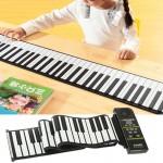instruments de musique 88 Clés Portable silicone souple Rouleau MIDI Up Piano, Clavier: 133 x 14,2 0,6 cm - wewoo.fr