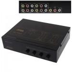 Splitter RCA 4-Way Video & Audio AMP avec interrupteur, 4 entrées, 1 sortie JM-VA401 - wewoo.fr