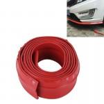 Pare-chocs voiture Universal 2.5m avant Lip Spoiler Splitter Jupe adhésif de protection Rouge - wewoo.fr