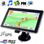 GPS voiture 7,0 pouces TFT écran tactile navigateur GPS, intégré 4 Go de mémoire, Mini Port USB, Touch Pen, la voix diffusion...