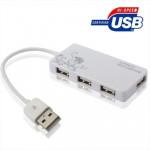 Hub USB 2.0 4 ports HUB, Plug and Play, Blanc - wewoo.fr